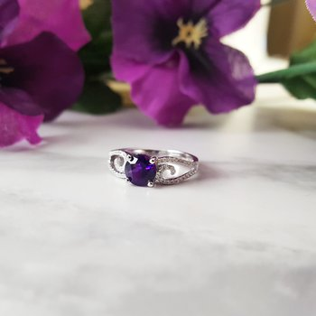 Swirl Amethyst Ring
