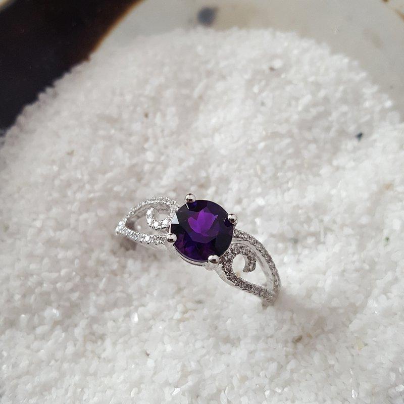 Arizona Amethyst™ Gold Jewelry Swirl Amethyst Ring