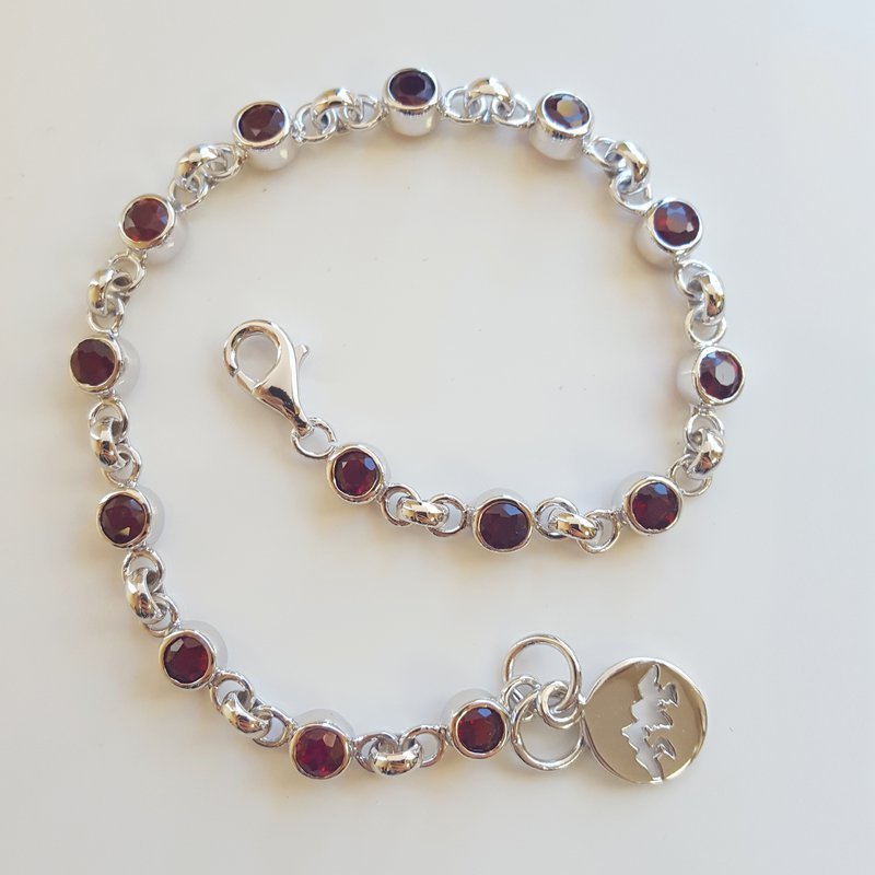 Arizona Anthill Garnet Silver Jewelry Anthill Garnet Bracelet