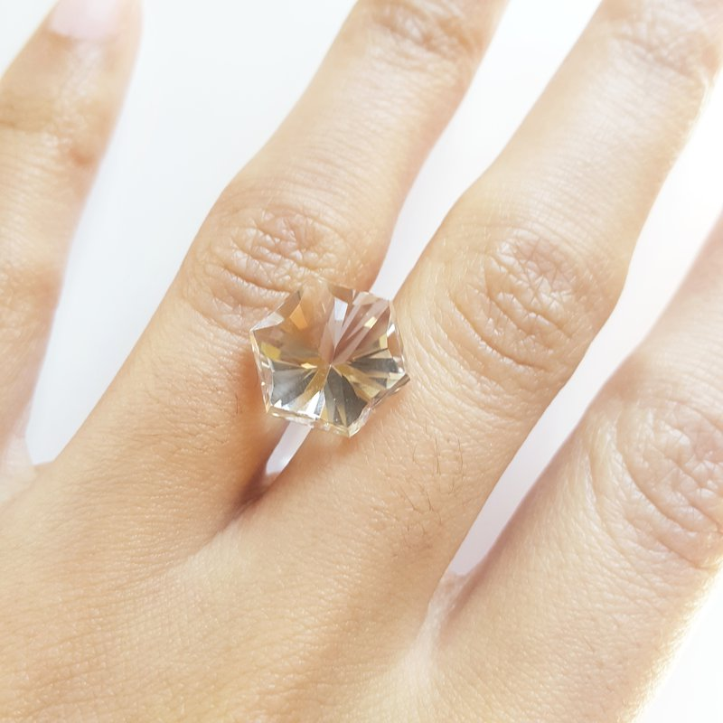 "American Gem Collection™ Star Hexagon NY Herkimer ""Diamond"""