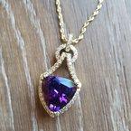 Arizona Amethyst™ Gold Jewelry One of a Kind Arrowhead Pendant