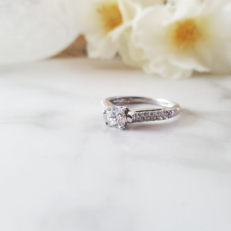 Sami Fine Jewelry Pavé Engagement Ring