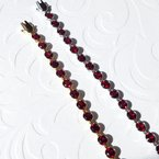 Arizona Anthill Garnet Gold Jewelry Bezel Tennis Bracelet