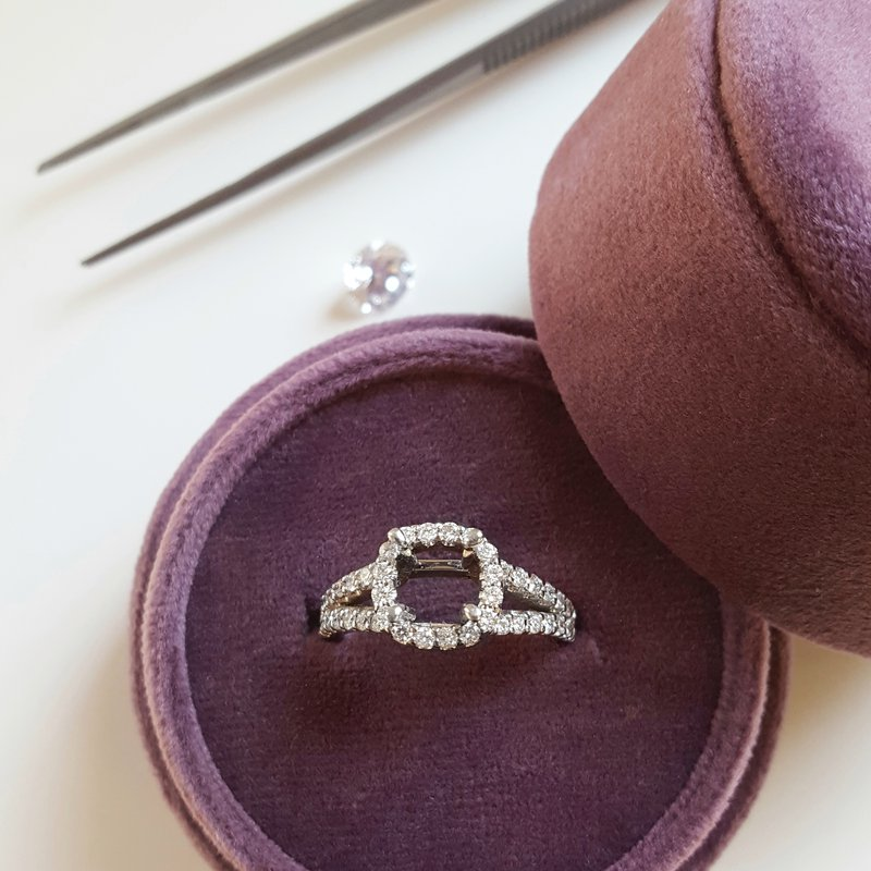 Sami Fine Jewelry Halo Semi Mount