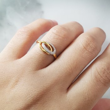Looped Diamond Ring