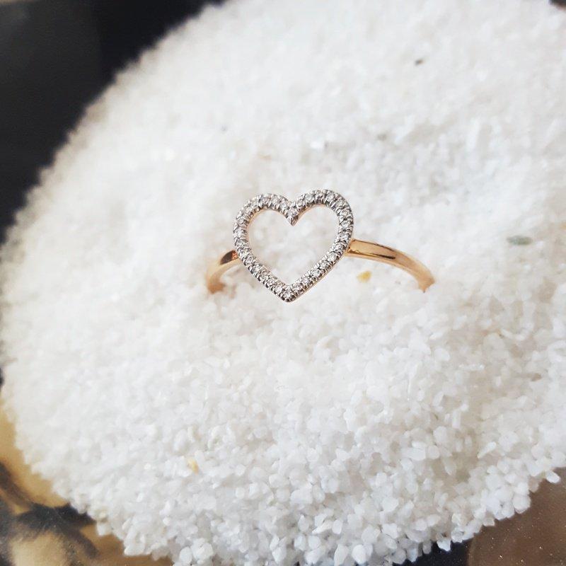 Sami Fine Jewelry Open Heart Ring