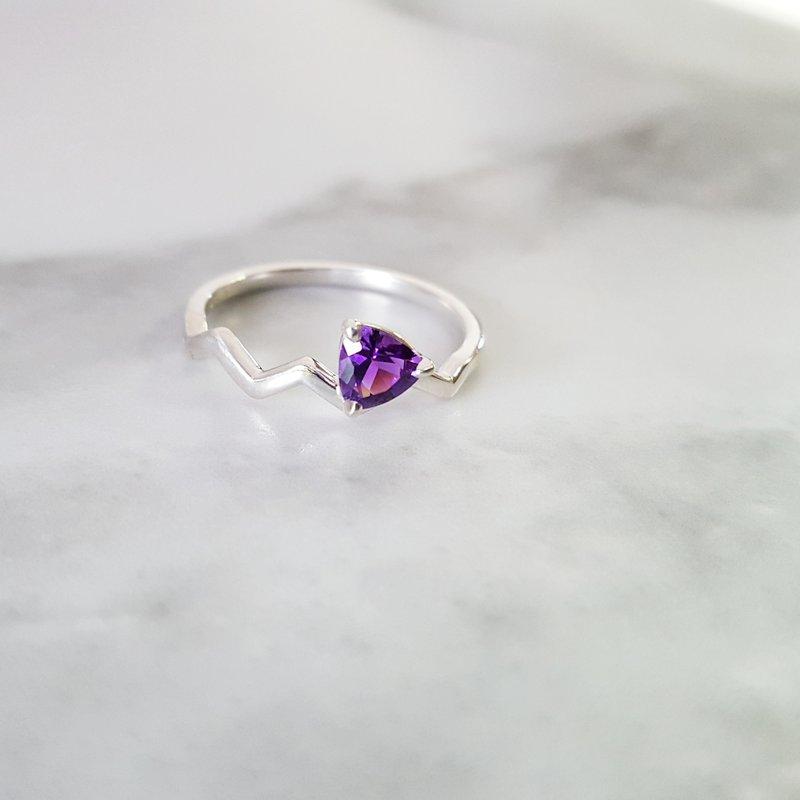 Arizona Amethyst™ Silver Jewelry Four Peaks Ring