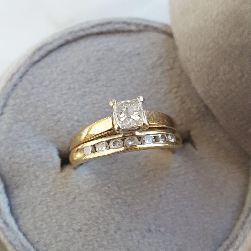 Sami Fine Jewelry Estate Wedding Set