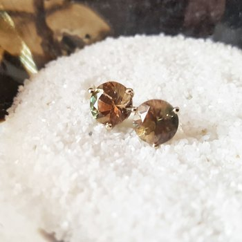 Green Sunstone Martini Studs