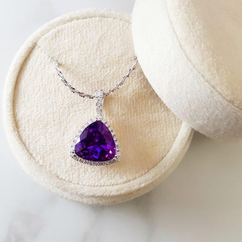 Arizona Amethyst™ Gold Jewelry Trillion Cut Amethyst Pendant
