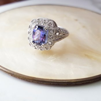 Royal Tanzanite Filigree Ring