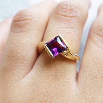 Amethyst Bezel Ring