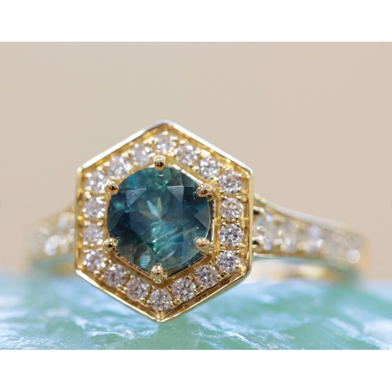 American Gem Collection™ Hexagon Ring