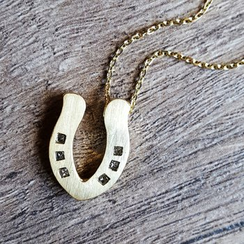 Gold Horseshoe Necklace