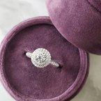 Sami Fine Jewelry Round Double Halo Ring