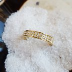 Sami Fine Jewelry 2 Row Pavé Diamond Band