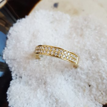 2 Row Pavé Diamond Band