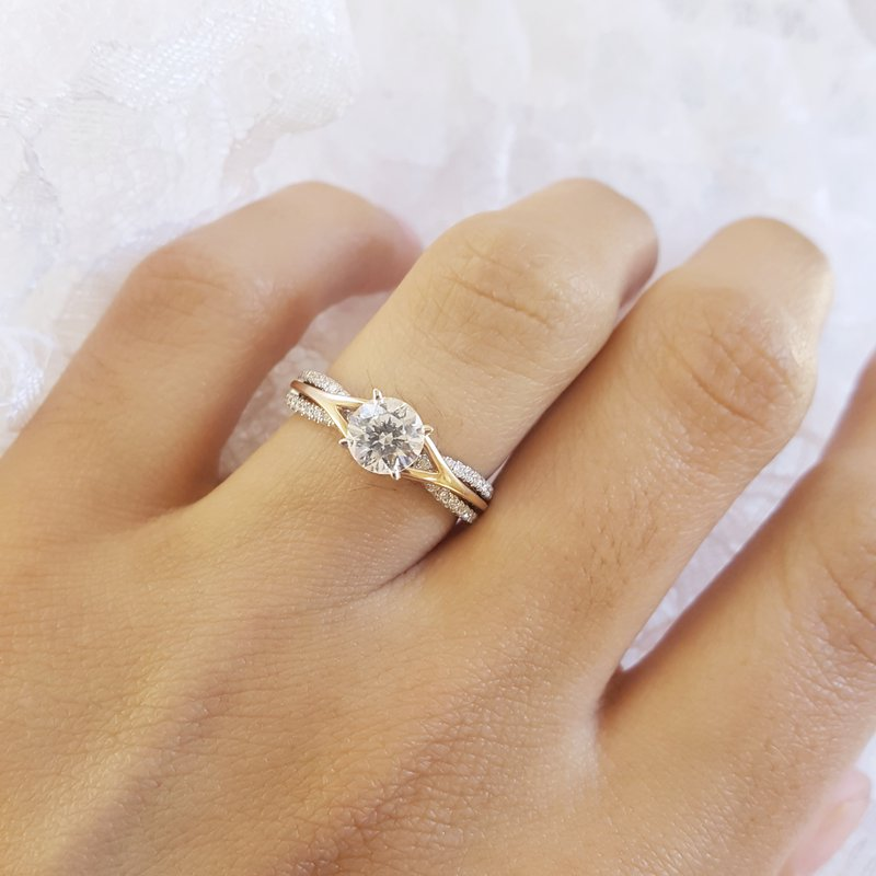 Sami Fine Jewelry Two-Tone Semi-Mount Engagement Ring