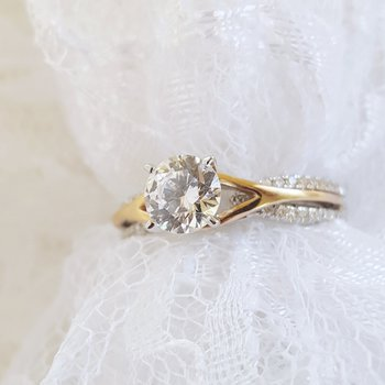 Two-Tone Semi-Mount Engagement Ring