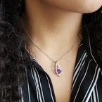 Arizona Amethyst™ Gold Jewelry Cascade Pendant