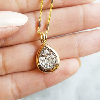 Raindrop Diamond Pendant