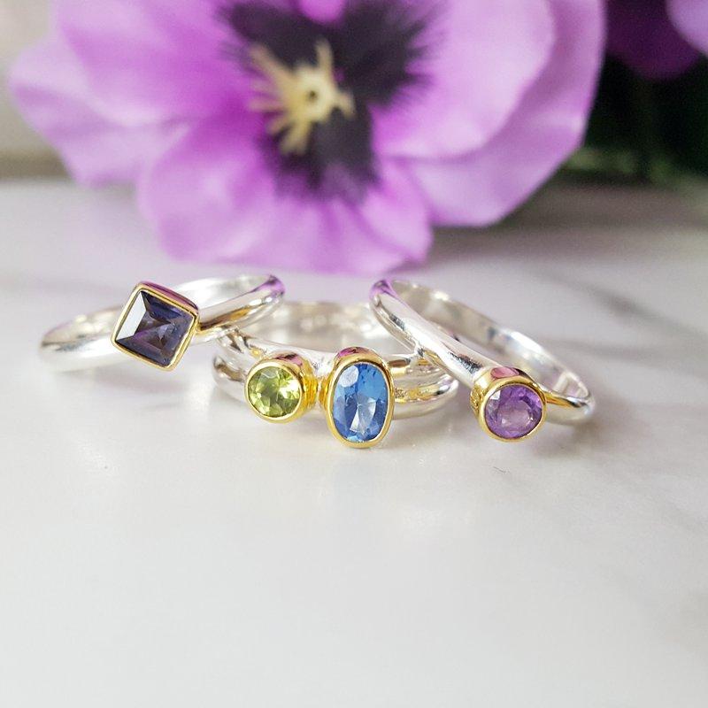 Michou Kaleidoscope Ring Set