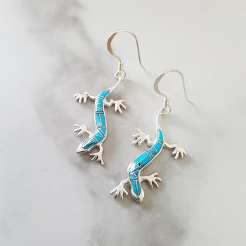 Gecko Dangle Earrings