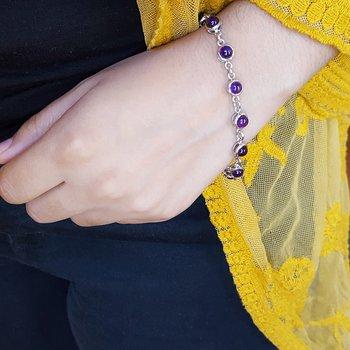 12 Stone Arizona Amethyst Bracelet