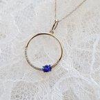 Sami Fine Jewelry Tanzanite Open Circle Necklace