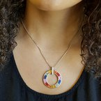 Sami Fine Jewelry Sapphire Circle Necklace