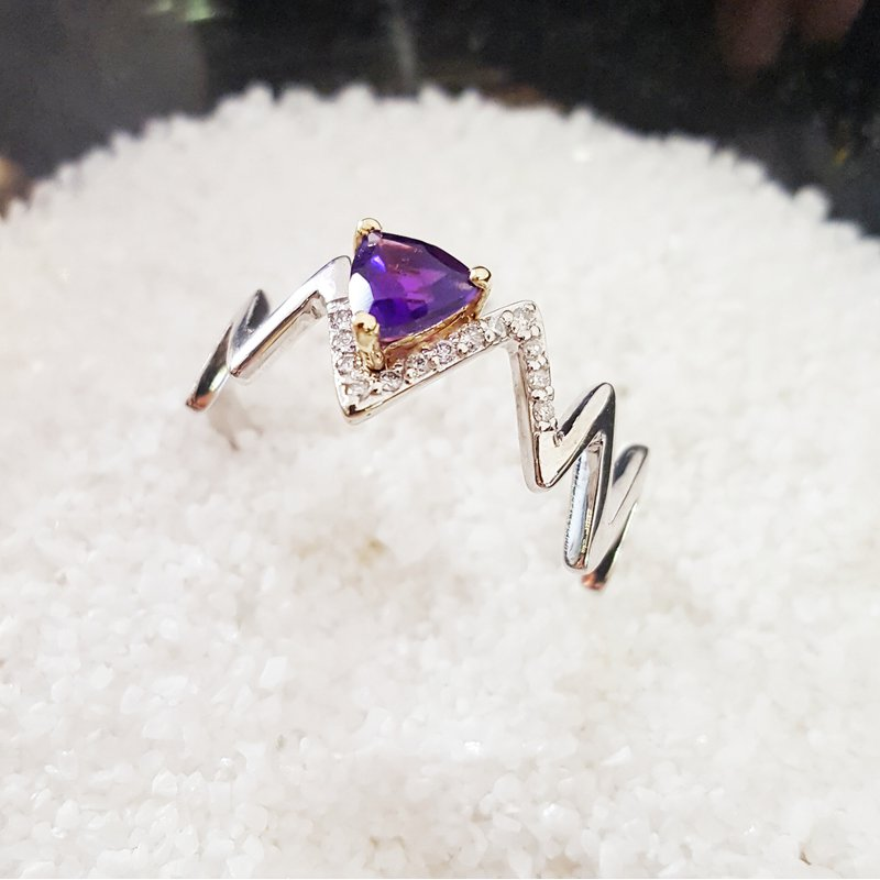 Arizona Amethyst™ Gold Jewelry Zig-Zag Mountaintop Ring