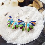 Arizona Turquoise and Inlaid Jewelry Butterfly Multicolor Earrings