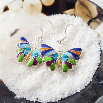 Butterfly Multicolor Earrings