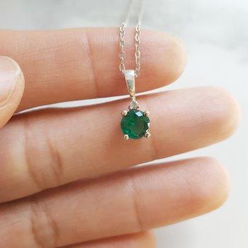 May Emerald Pendant
