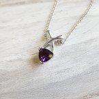 Arizona Amethyst™ Silver Jewelry Criss Cross Amethyst Necklace
