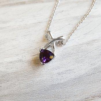 Criss Cross Amethyst Necklace