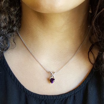 Criss Cross Amethyst Necklace