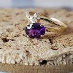 Arizona Amethyst™ Gold Jewelry Off-set Open Shank Ring