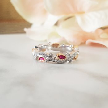 Ruby Floral Ring