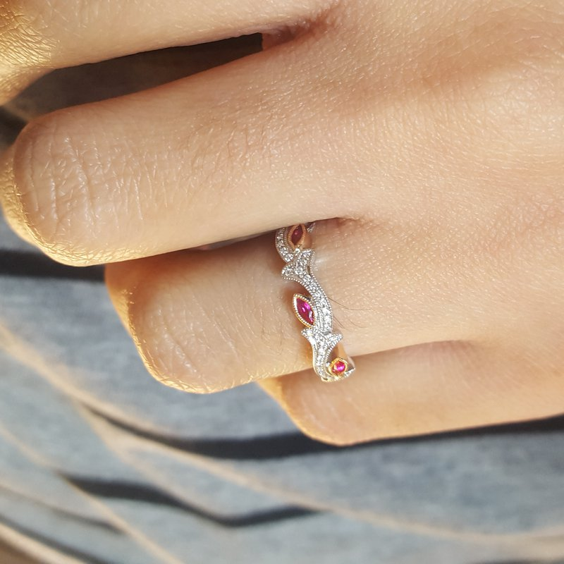 Sami Fine Jewelry Ruby Floral Ring