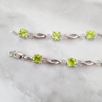Open Link Peridot Bracelet