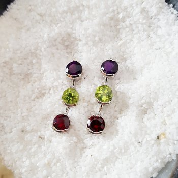 Arizona Gems Drop Stud Earrings