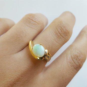 Opal Swoop Ring