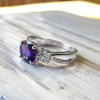 Arizona Amethyst™ Gold Jewelry Diamond Amethyst Ring