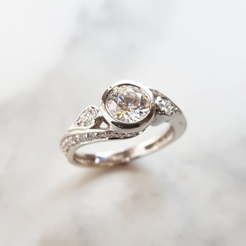 Vintage Bezel Engagement Semi-Mount
