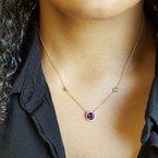 Arizona Amethyst™ Gold Jewelry Station Necklace
