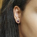 Arizona Amethyst™ Gold Jewelry Essential 1 1/4CT Round Cut Earrings