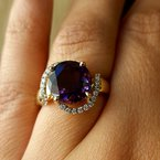 Arizona Amethyst™ Gold Jewelry Half Halo Ring