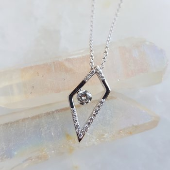 Angular Diamond Necklace