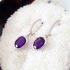 Arizona Amethyst™ Gold Jewelry Diamond Dangle Amethyst Earrings